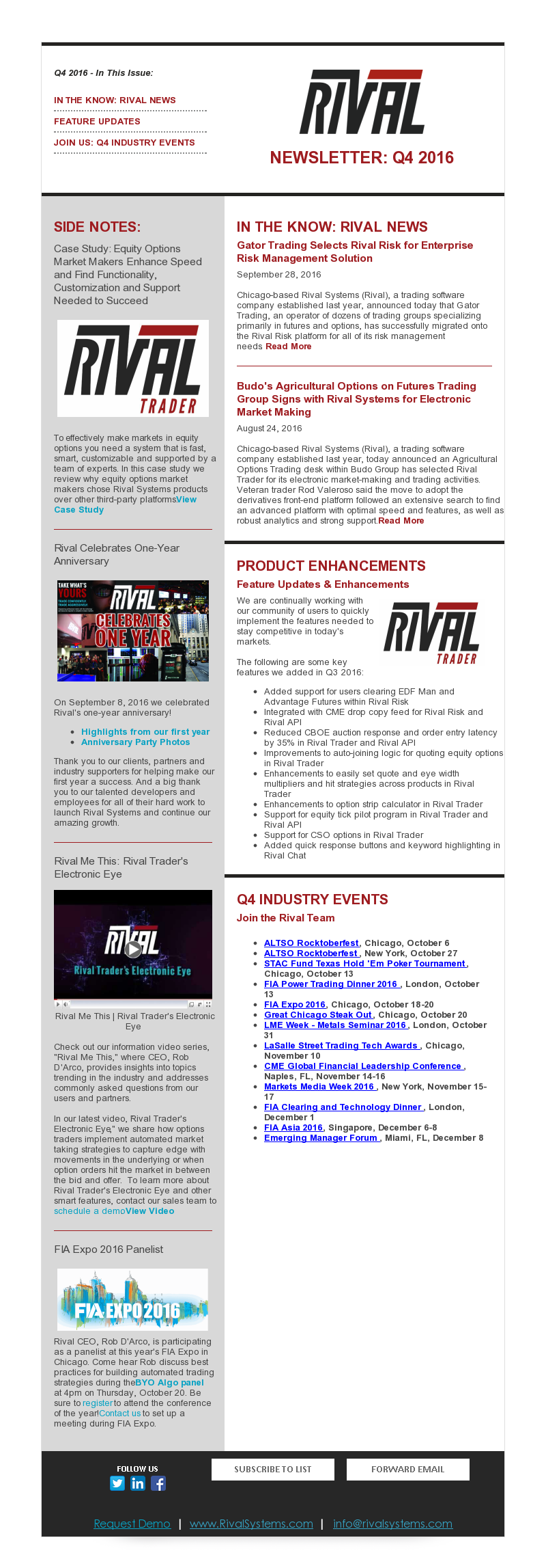 Rival Systems 2016 Q4 Newsletter
