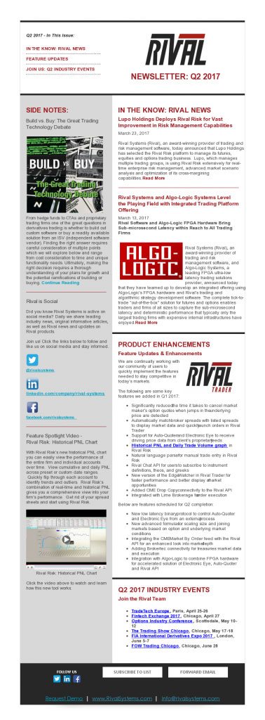 Rival Systems 2017 Q2 Newsletter